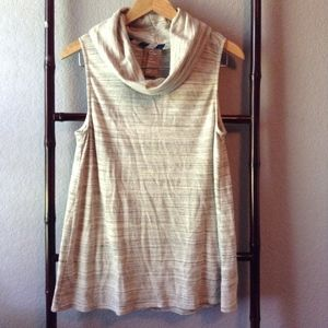 Anthropologie Dolan Turtleneck Gray Tank Top